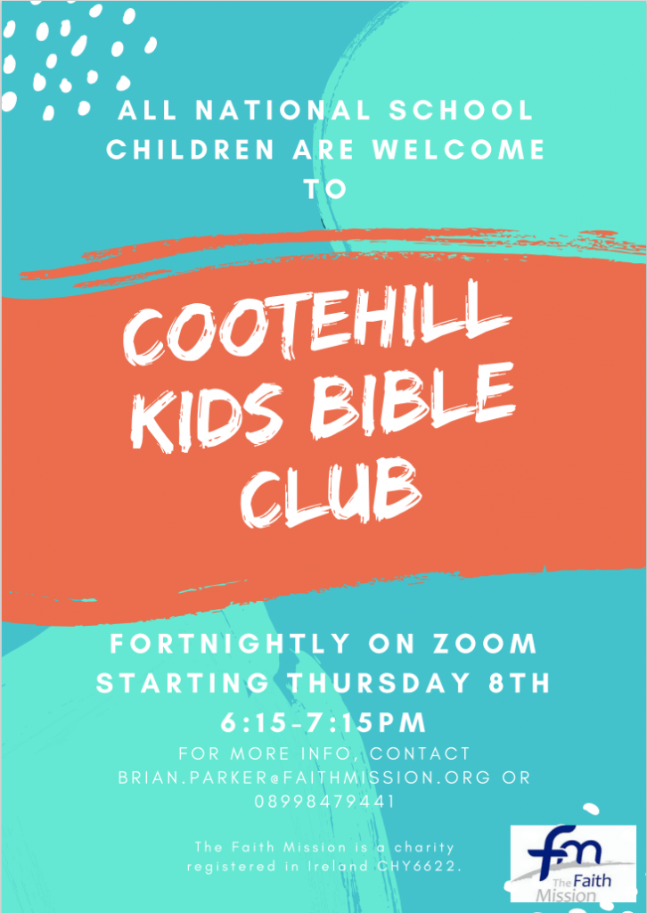 Cootehill Kids Bible Club on Zoom